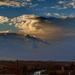 Naplemente felhővel