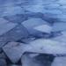 Befagyott jégtáblák a Fertő tón