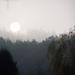 reggeli fények, egy ködös napfelkelte